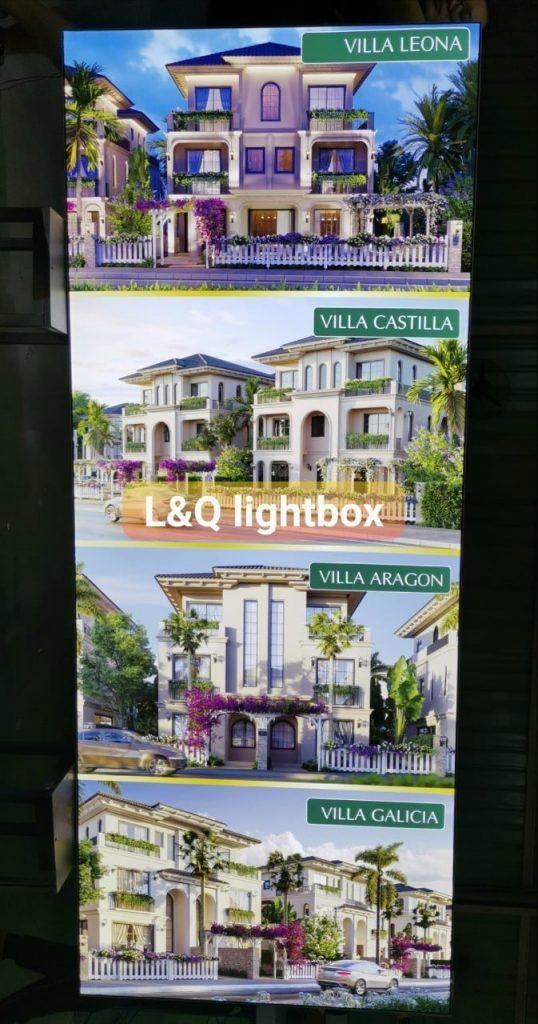 hộp đèn quảng cáo cho các công ty bất bất động sản