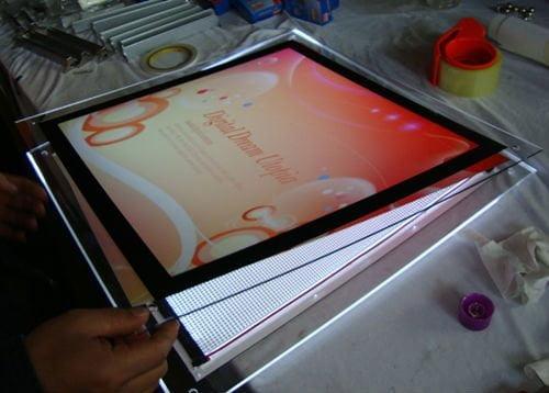 cấu tạo các thành phần của hộp đèn lightbox quảng cáo
