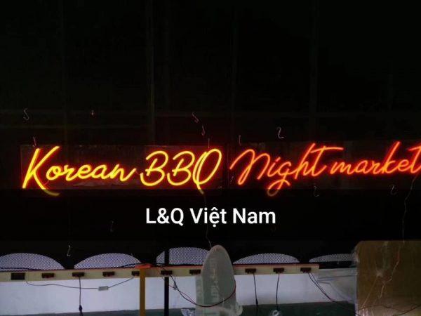 đèn neon sign korean bbq night market