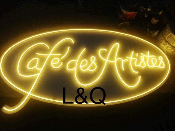 đèn neon sign biểu tượng logo cho quán cafe