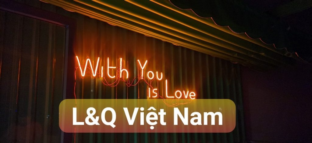 đèn neon sign with you is love