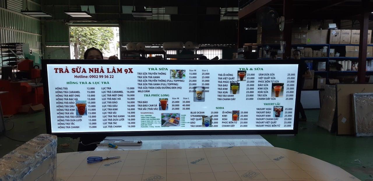 hộp đèn quảng cáo trà sữa nhà làm chỉ 15k
