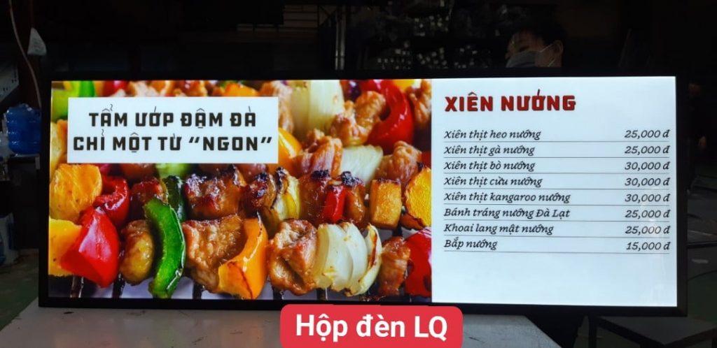 hộp đèn quảng cáo lightbox l&q đồ nướng