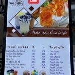 hộp đèn quảng cáo menu dành cho cửa hàng trà sữa
