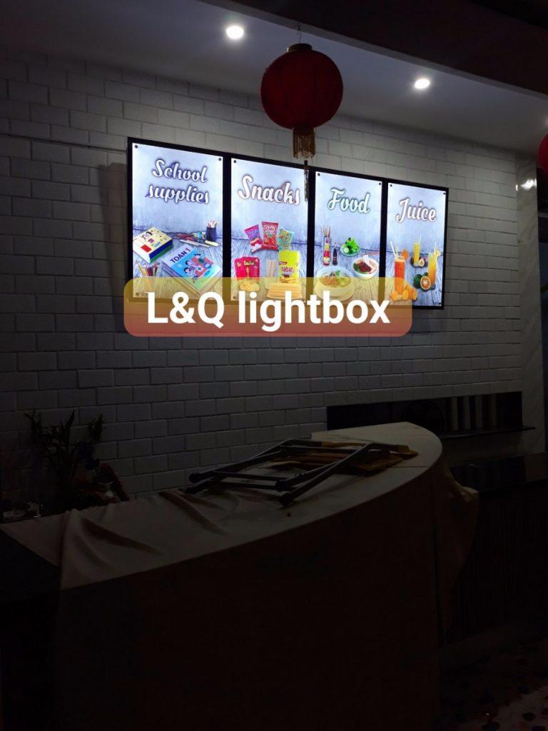 hộp đèn lightbox đồ ăn vặt cho trẻ nhỏ