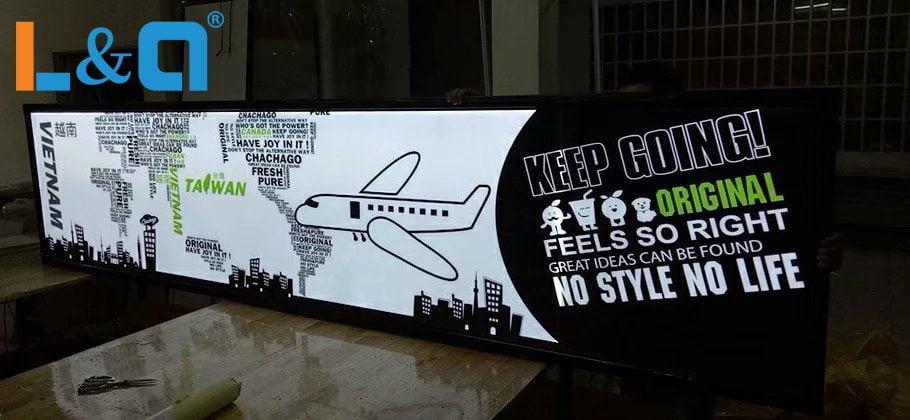 hộp đèn lightbox giới thiệu hãng hàng không