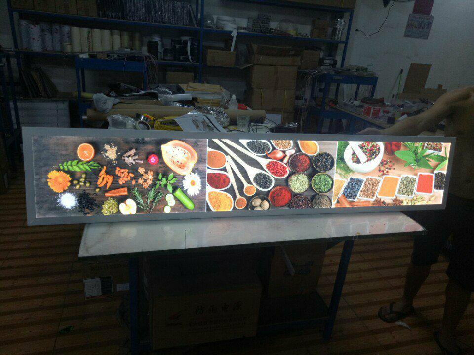 hộp đèn lightbox giới thiệu thực phẩm dinh dưỡng