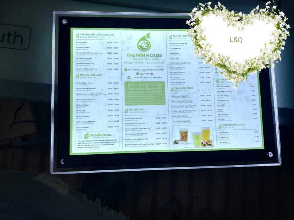 hộp đèn quảng cáo quán cafe 2