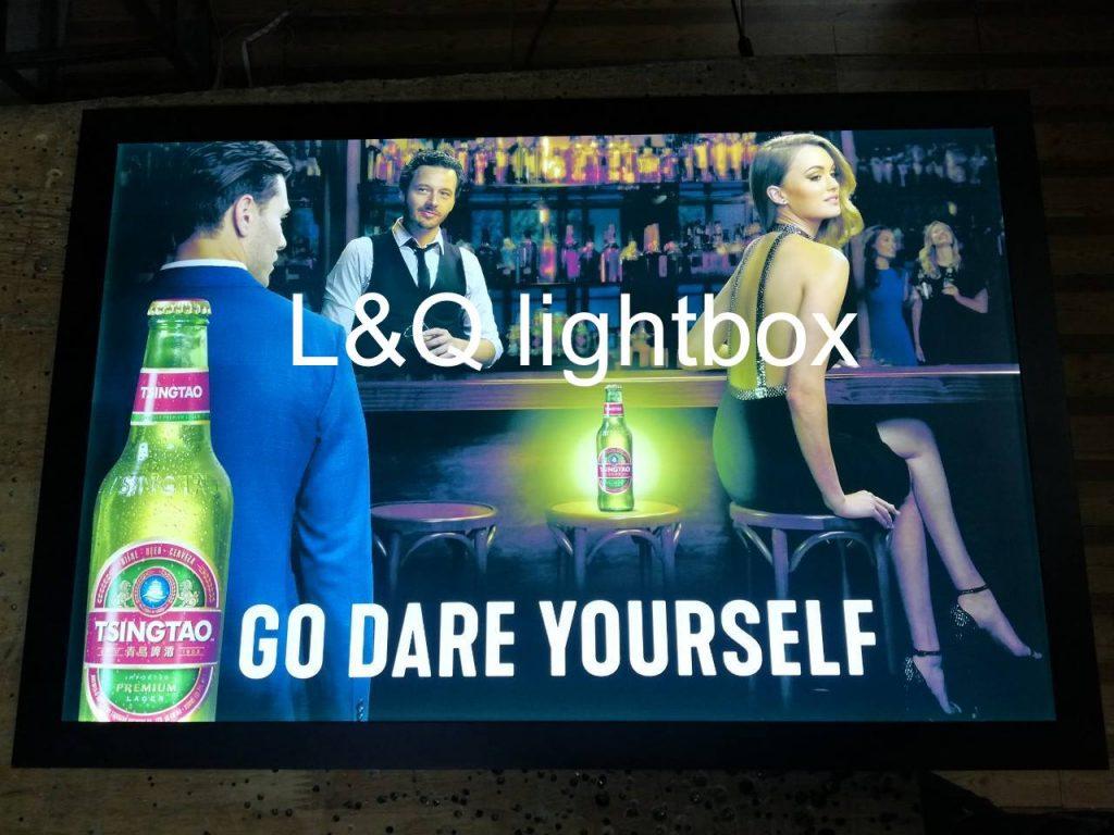 hộp đèn quảng cáo bia tsingtao