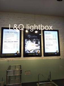 hộp đèn lightbox quảng cáo trung nguyên legen