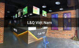 hộp đèn quảng cáo menu quán cafe