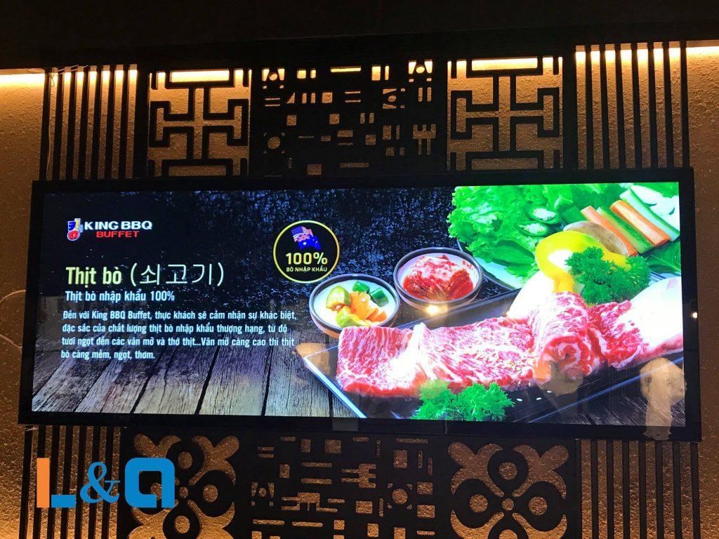 hộp đèn quảng cáo lightbox thịt bò nhật bản king bbq