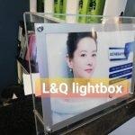 hộp đèn thủy tinh quảng cáo mỹ phẩm