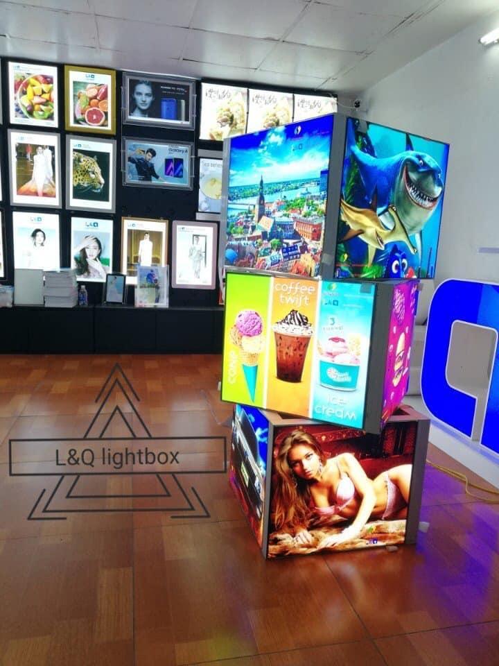 hộp đèn lightbox quảng cáo tại triển lãm 7