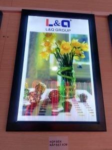hộp đèn lightbox quảng cáo led l&q việt nam chậu hoa 2
