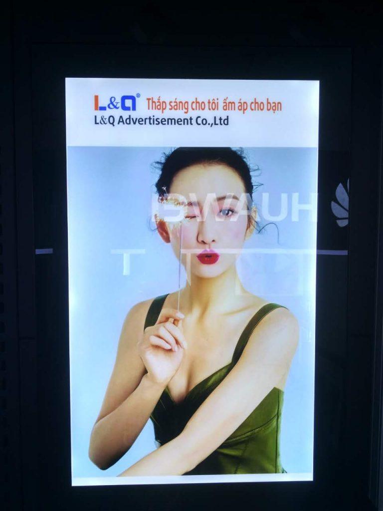 hộp đèn lightbox quảng cáo led l&q việt nam nghệ thuật