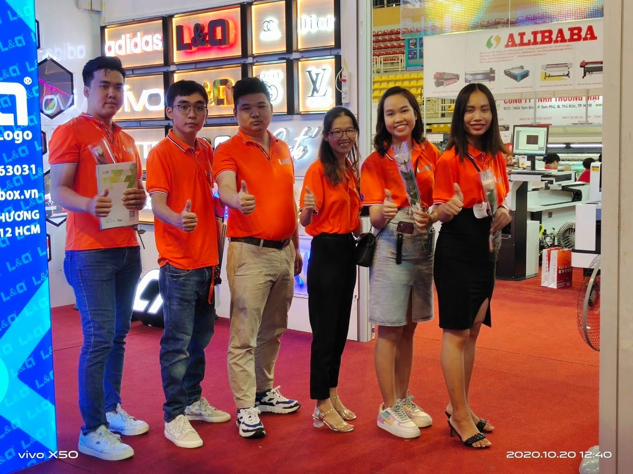 công ty l&q lightbox việt nam tại triển lãm