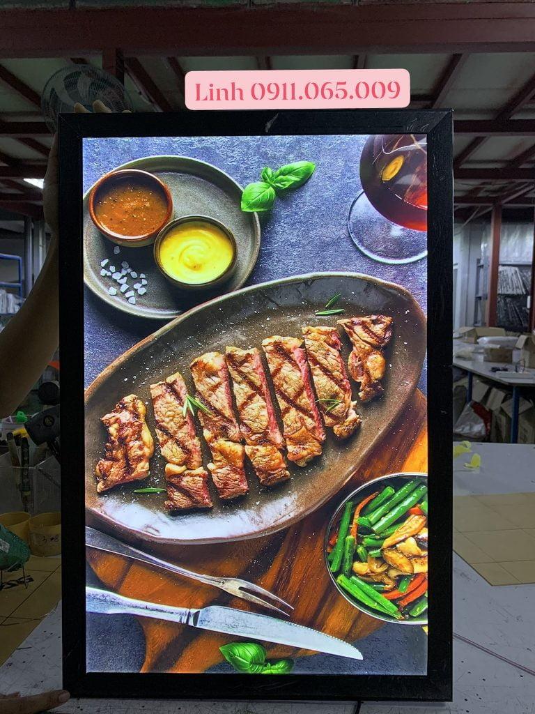 hộp đèn quảng cáo nắp bật ẩm thực