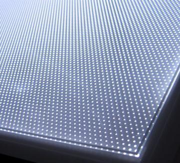 tấm dẫn sáng hạt cát hộp đèn quảng cáo