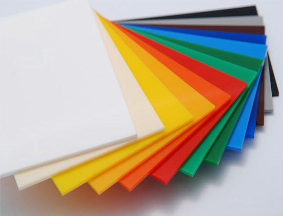 tấm mica nhựa nhiều màu sắc