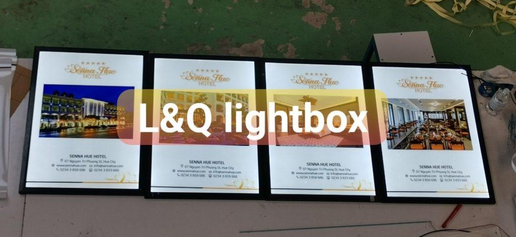 hộp đèn lightbox quảng cáo khách sạn senna