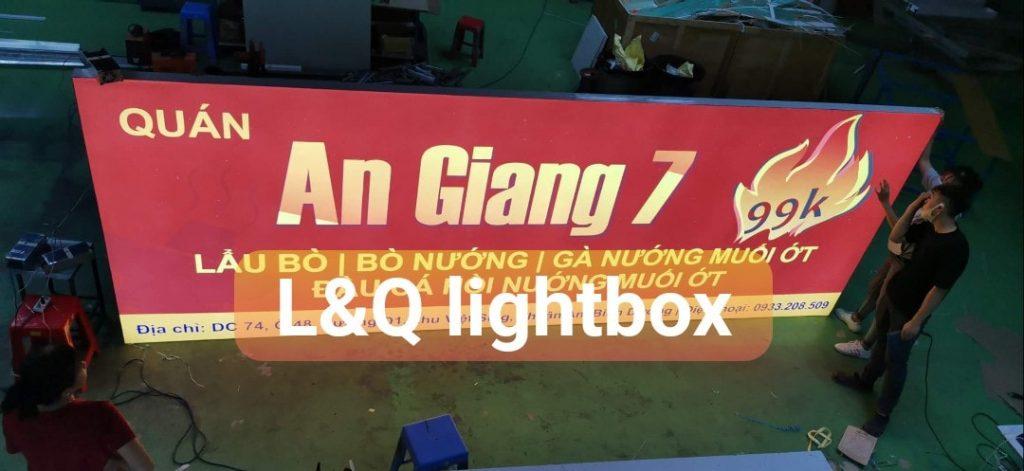bảng hiệu hộp đèn lightbox giới thiệu ẩm thực quán lẩu bò