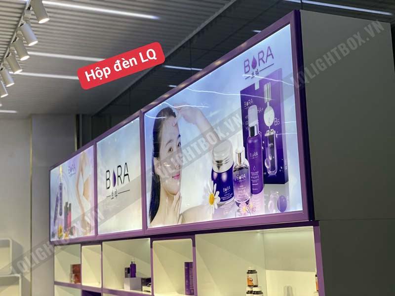 hộp đèn biển hiệu quảng cáo showroom mỹ phẩm bora 5