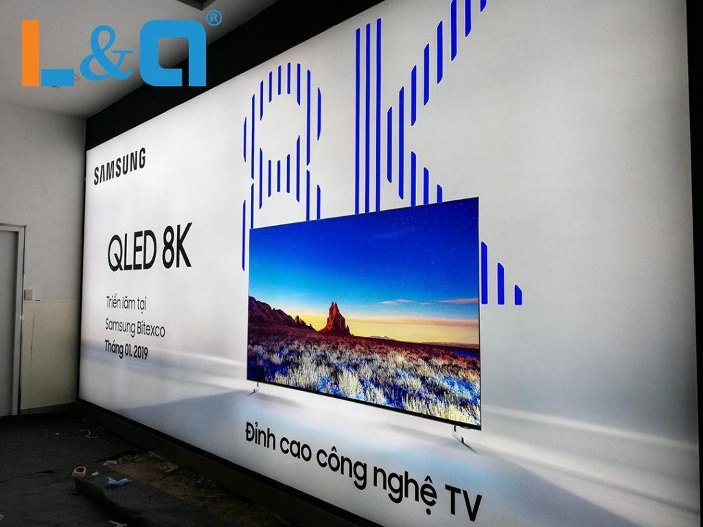 biển hộp đèn quảng cáo cabo samsung 8k