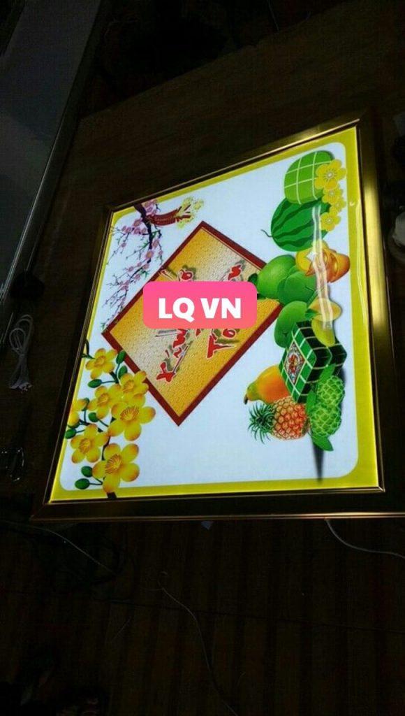 hộp đèn quảng cáo tết xuân 2021