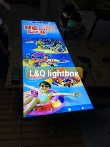 hộp đèn lightbox quảng cáo khu vui chơi giải trí giành cho trẻ em