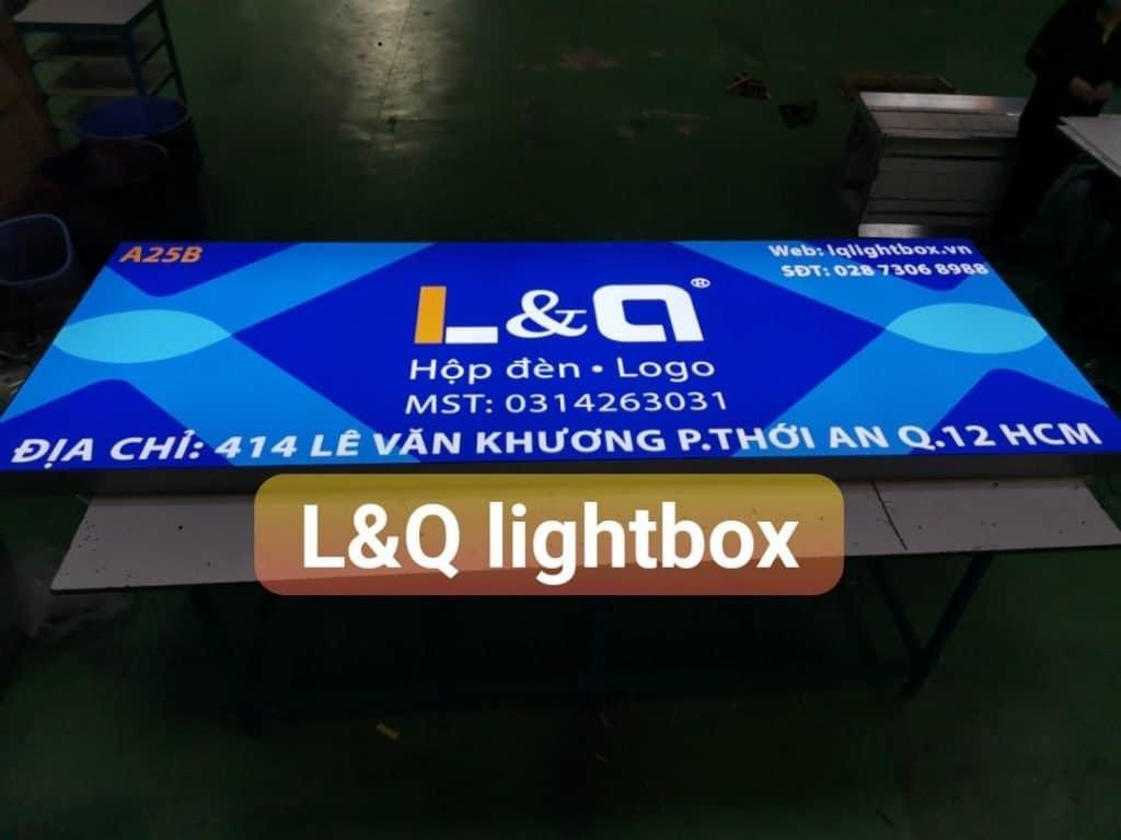 hộp đèn bảng hiệu lightbox dùng cho quảng cáo thương hiệu