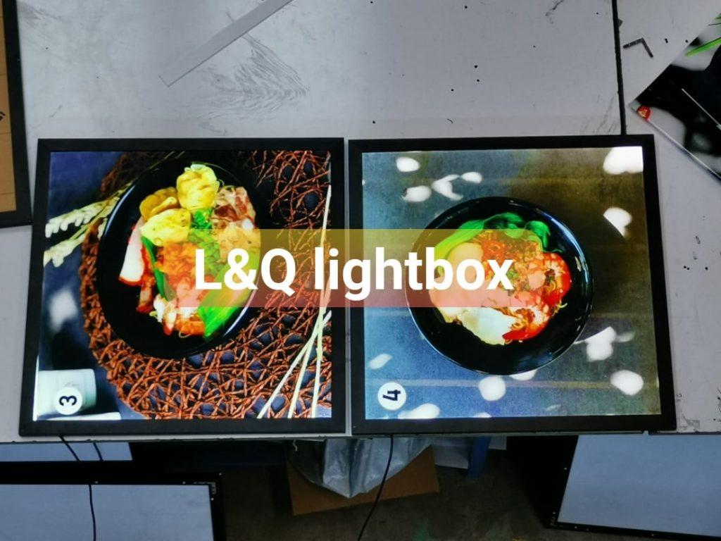 hộp đèn quảng cáo menu lightbox ẩm thực nhà hàng