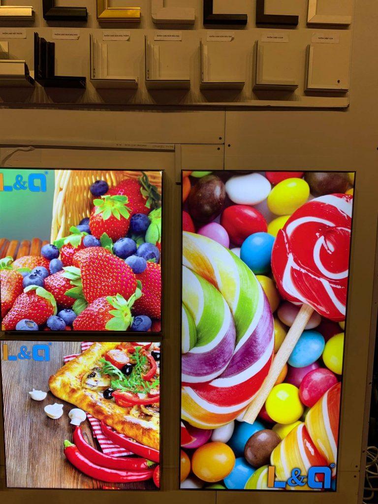 hộp đèn quảng cáo lightbox kẹo, bánh, trái cây & phụ kiện