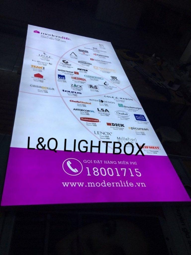 hộp đèn quảng cáo siêu thị đồ gia dụng