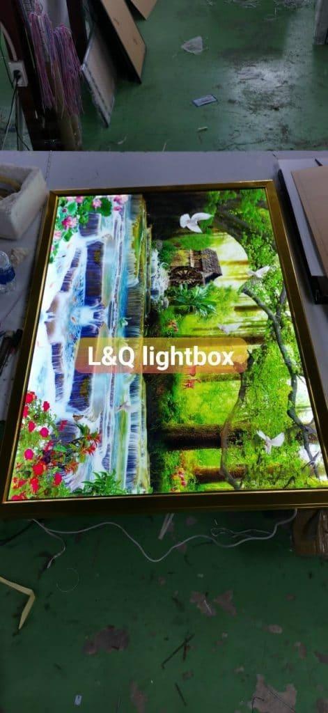 hộp đèn trang trí lightbox phong cảnh