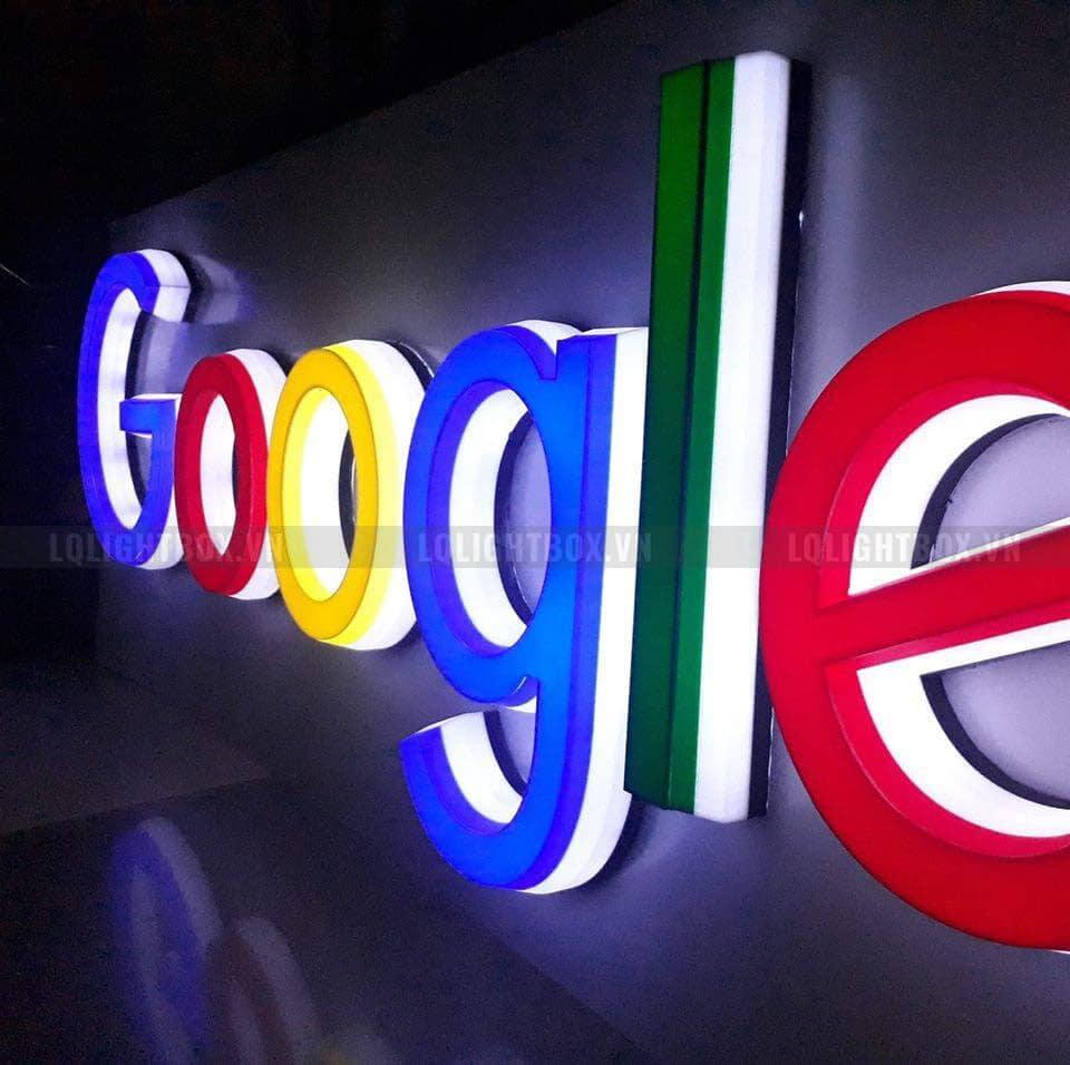 Hộp đèn chữ nổi quảng cáo google