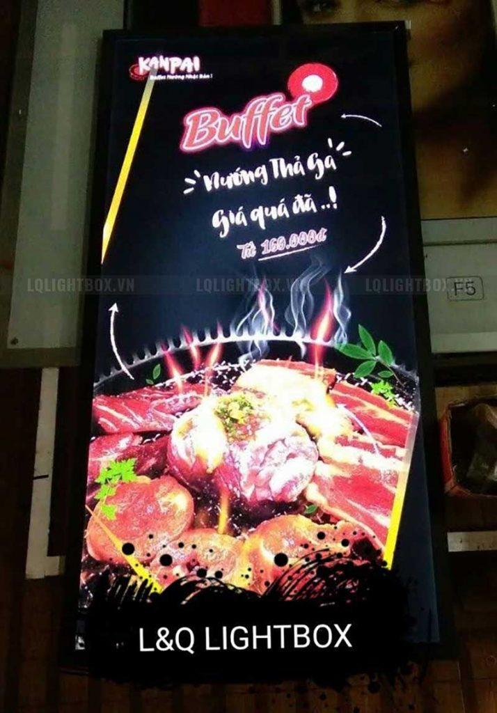 tranh điện mica khuyến mãi ẩm thực lẩu buffet sáng tạo độc đáo