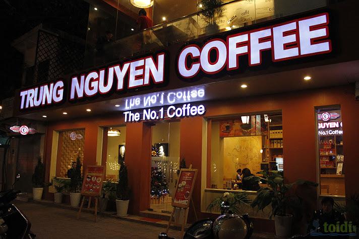 bảng hiệu hộp đèn quán cafe