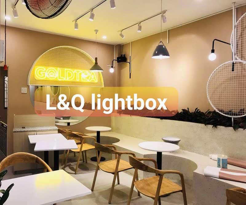 đèn led neon sign tại 1 phòng trà