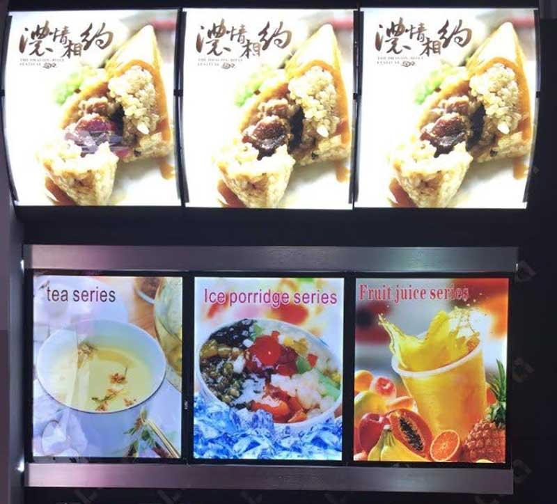 Một hộp đèn menu khác tại một tiệm đồ ăn nhanh