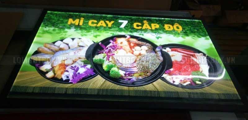 hộp đèn tranh điện mica mì cay 7 cấp độ