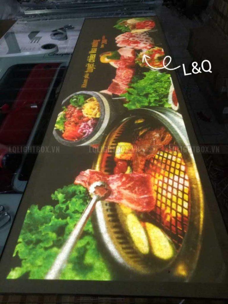 Hộp đèn quảng bá đồ nướng tại quán buffer hấp dẫn độc đáo